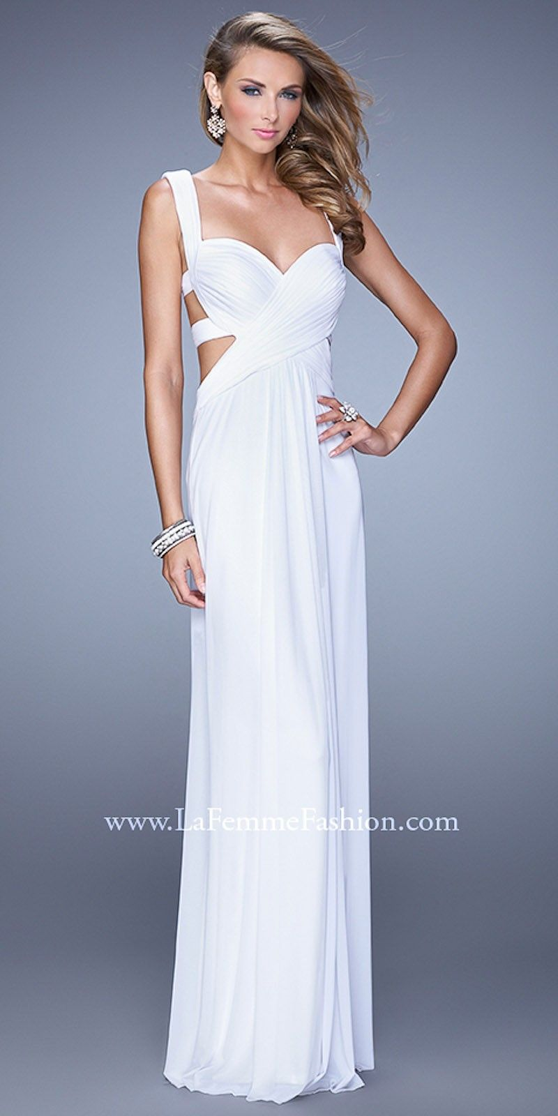 Gathered jersey prom dresses by la femmeimage a girl can dream
