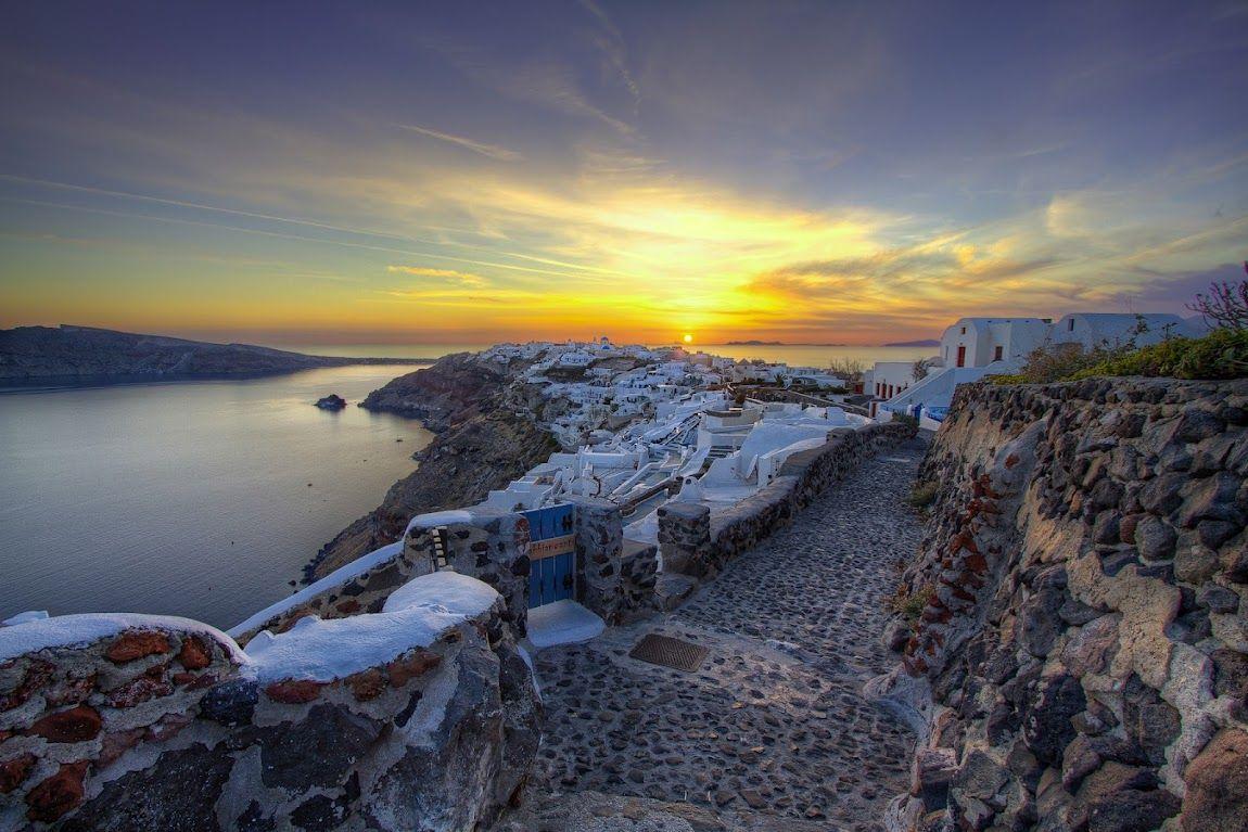 Santorini atardecer
