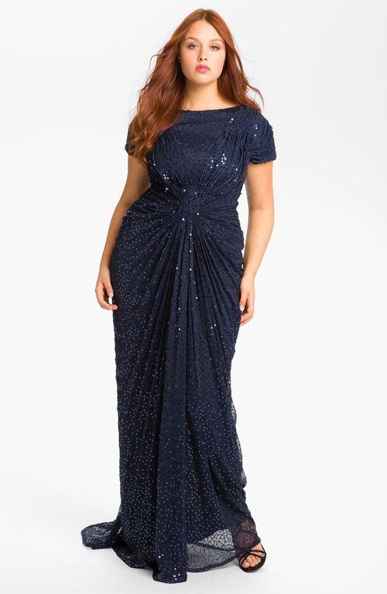 5e33a8e18c4 Вечернее платье с драпировкой для полных
