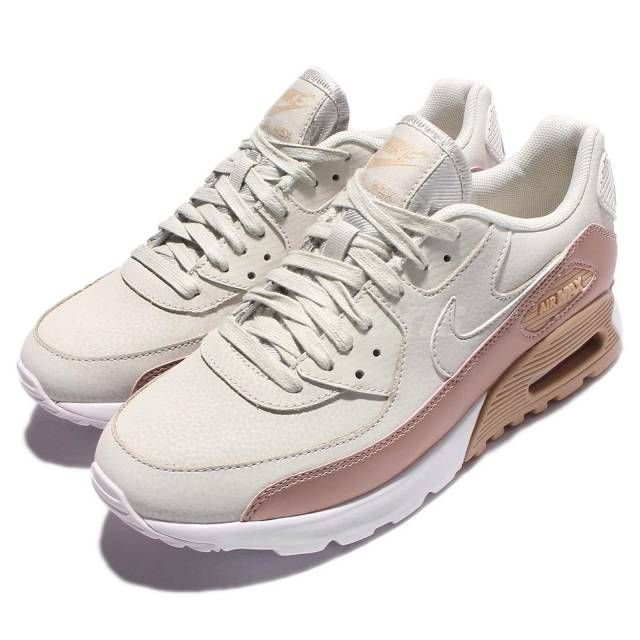 Wmns Nike Air Max 90 Ultra SE Light Bone Bronze Womens Running Shoes  859523-001