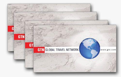 4 Simple yet elegant travel business card templates