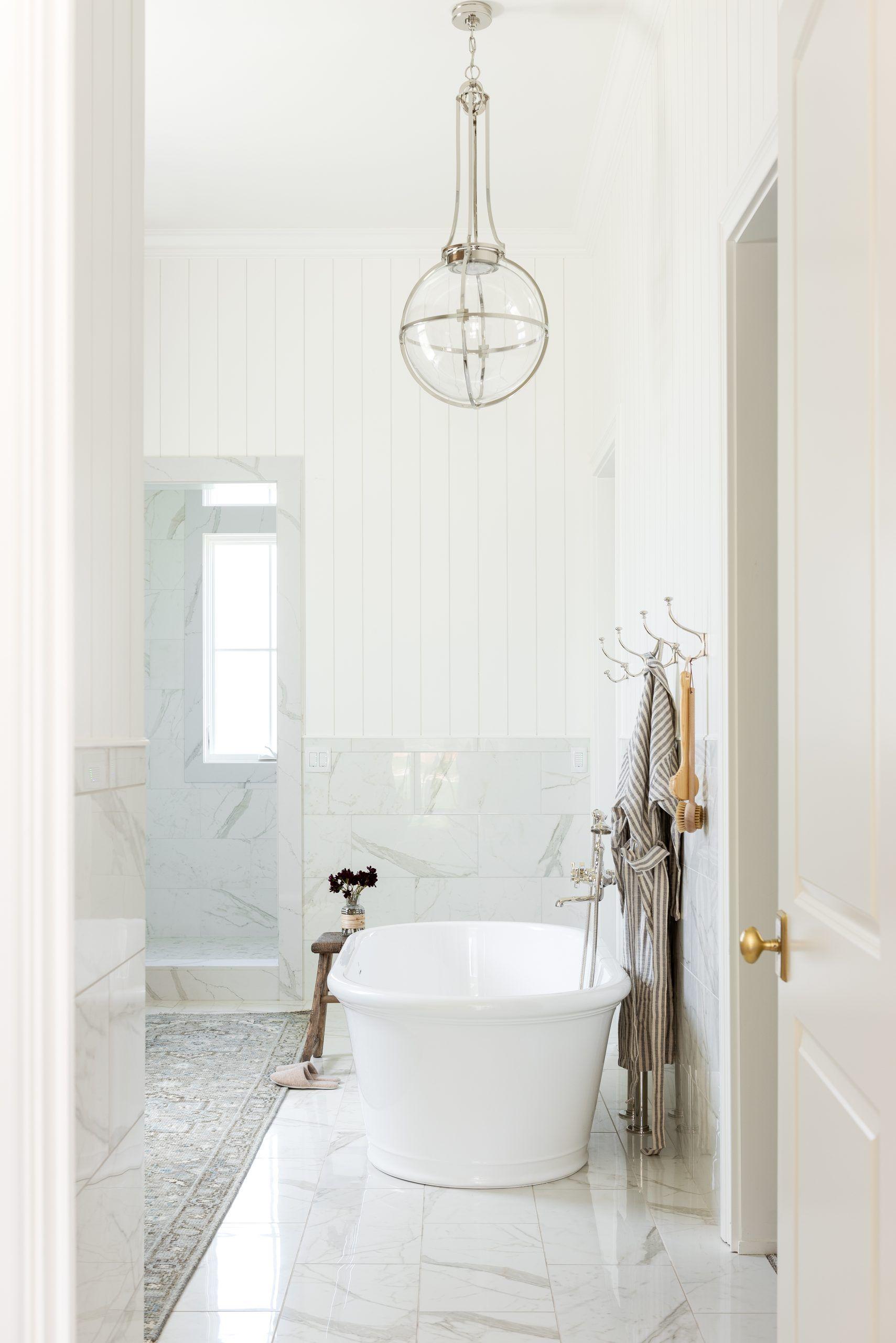 Home On The Ranch The Primary Bedroom Studio Mcgee In 2021 Master Bathroom Design Wainscoting Tiles Bedroom Studio