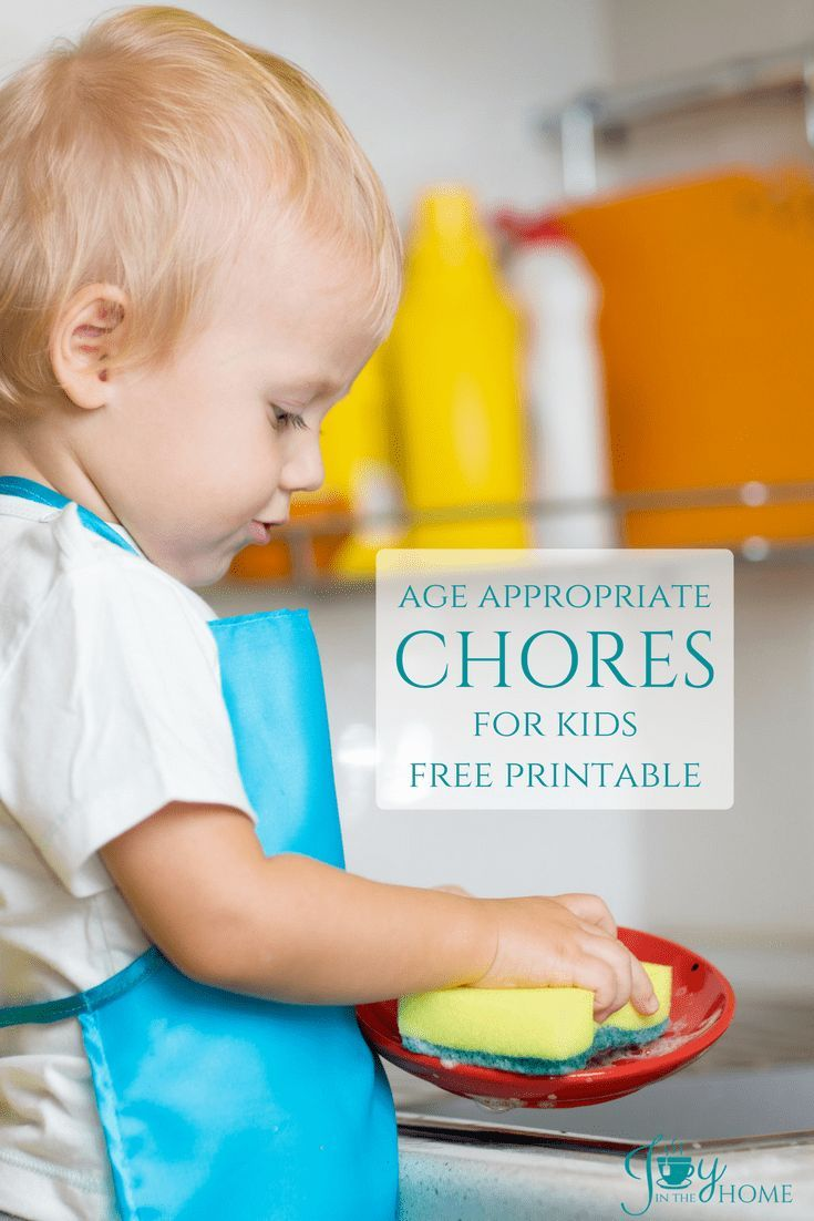 AGE APPROPRIATE CHORES FOR KIDS - FREE PRINTABLE | Age ...