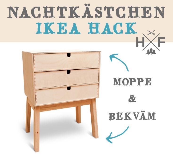 ikea nachk stchen hack aus moppe und bekv m tritthocker. Black Bedroom Furniture Sets. Home Design Ideas