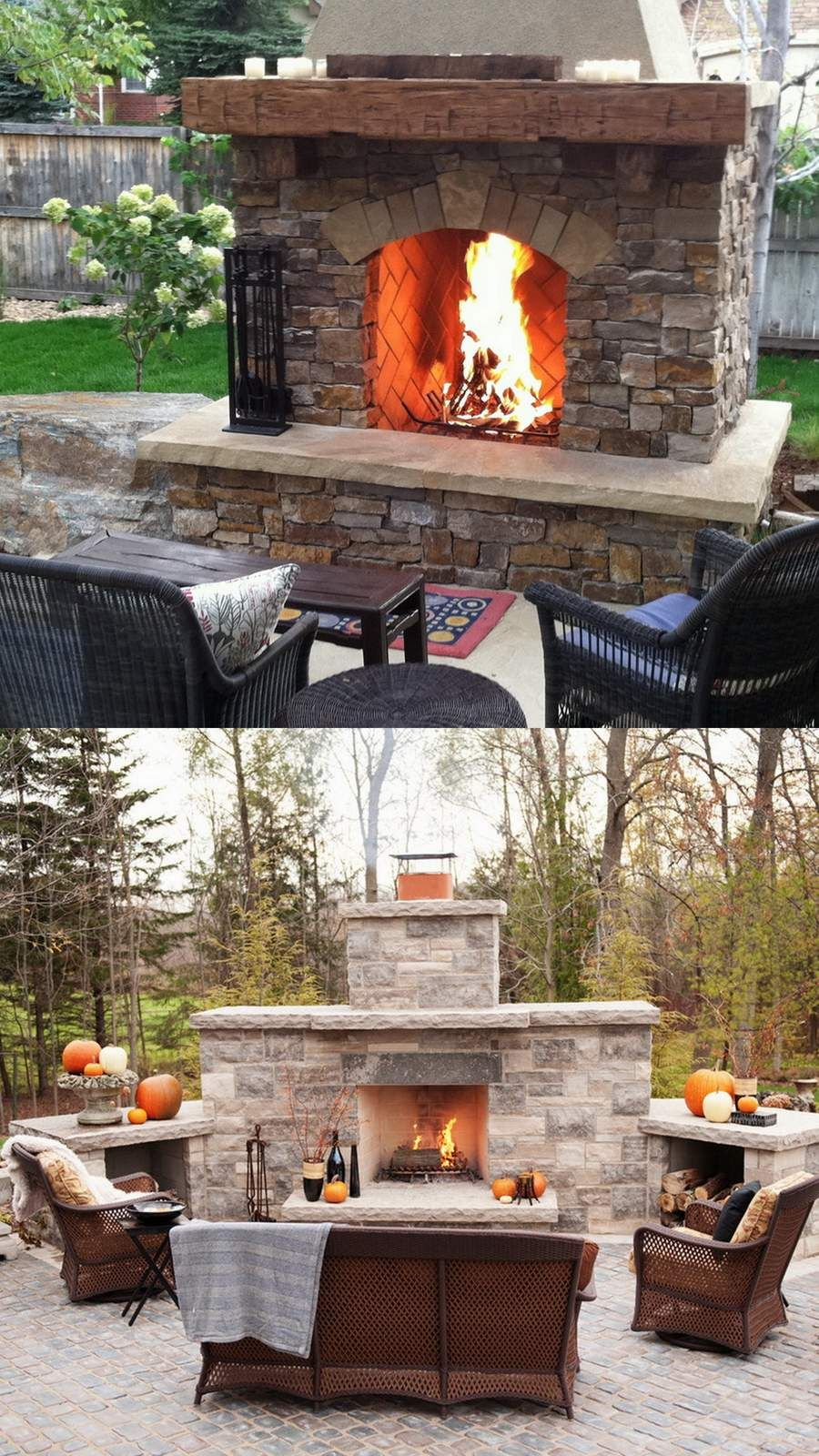 Amazing Outdoor Fireplace Designs Part 2 | Backyard ... on Amazing Outdoor Fireplaces id=14881
