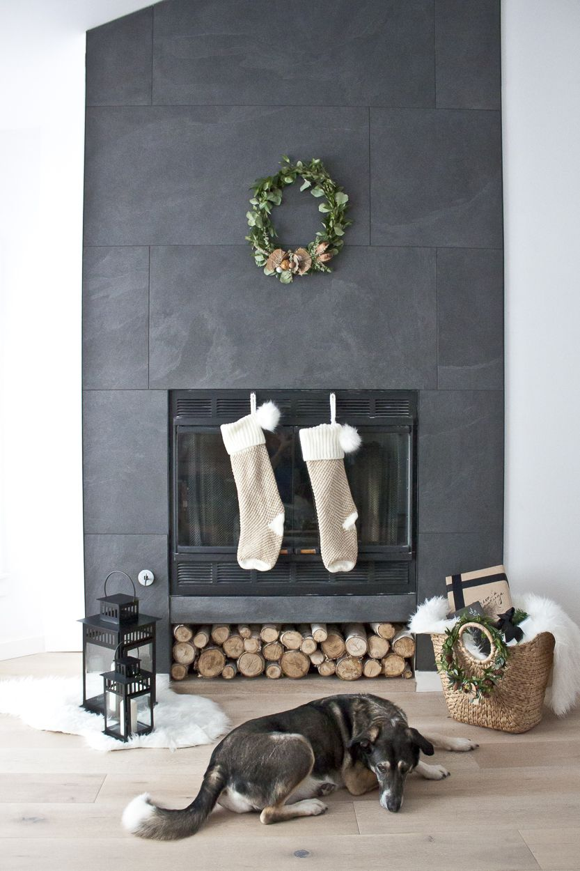 Classic Festive Fireplace Decor | Minimal christmas, Mantels and ...