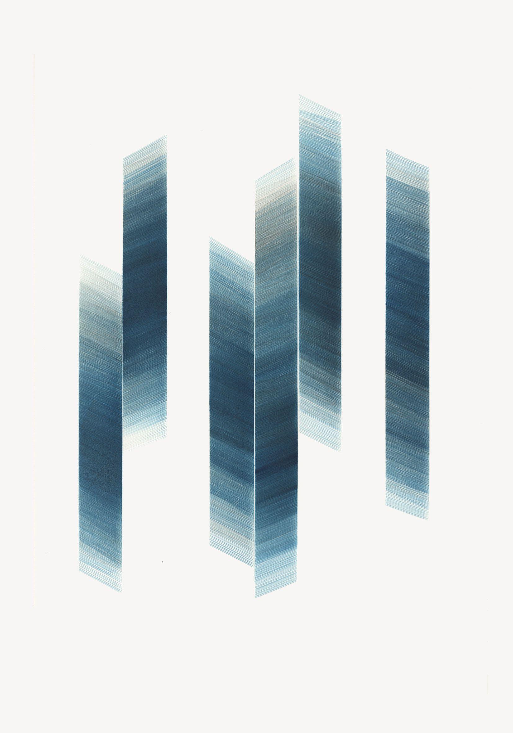 Valle Martín. Sin título, 2014 (serie Tracklist).Tinta de grabado Charbonnel sobre papel Geler Santinado. 50 x 35 cm.