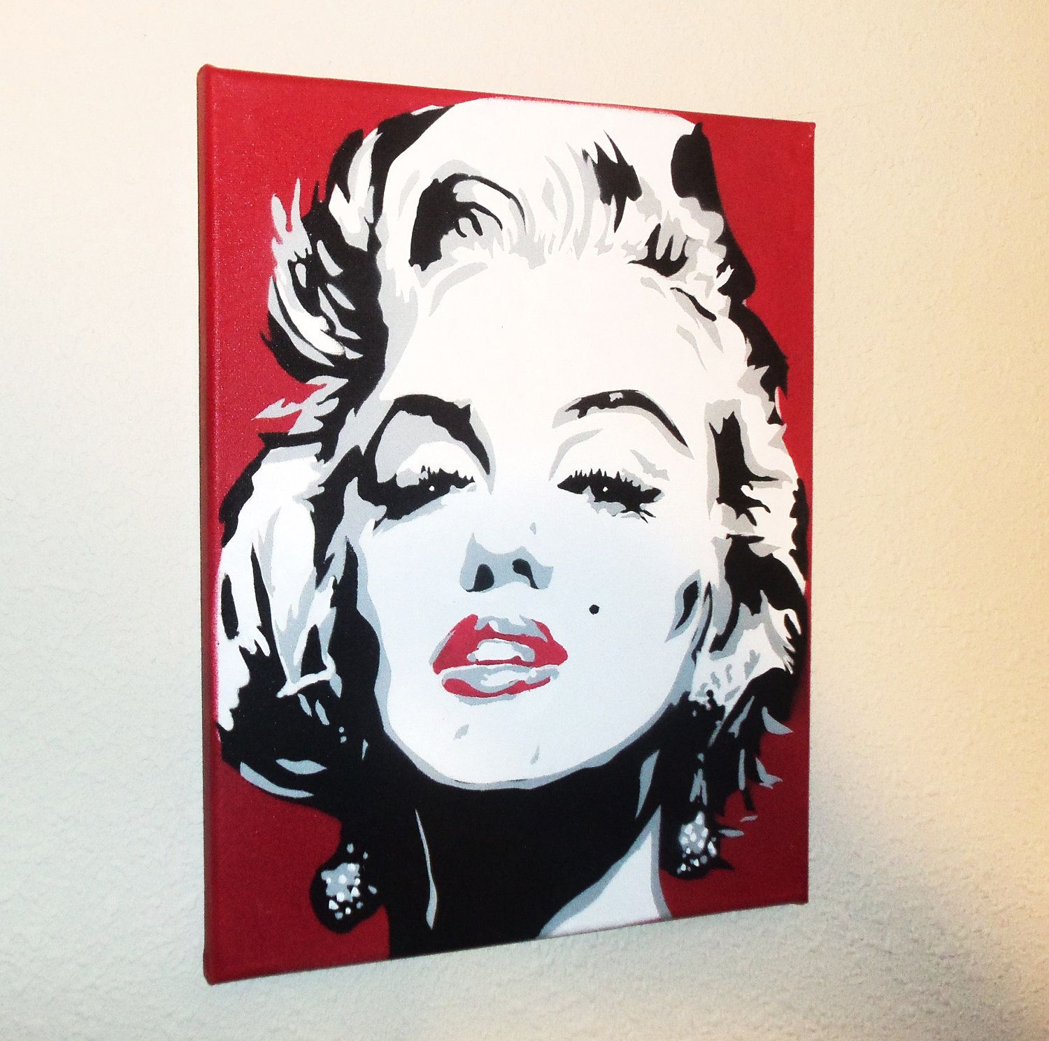 Marilyn Monroe 11 x 14Graffiti Spray Paint canvas. $17.00, via Etsy ...