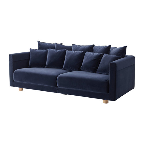 Stockholm 2017 3 Zitsbank Sandbacka Donkerblauw Ikea Living Room Furniture Three Seat Sofa Ikea Living Room