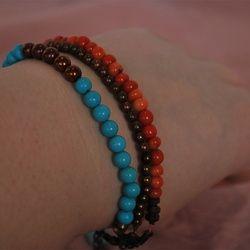 """Southwest Strands"" - $22 w/$3 shipping.  http://rexanasbeads.webs.com/bracelets"