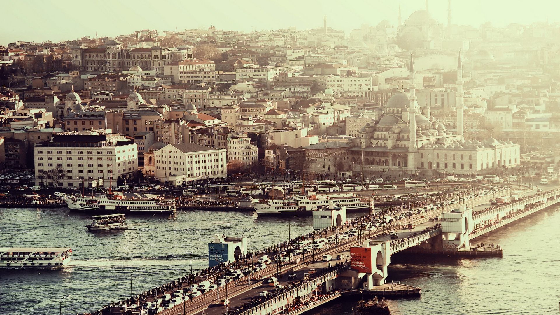 Wallpaper Roads Istanbul Streets Houses Bustle Machinery