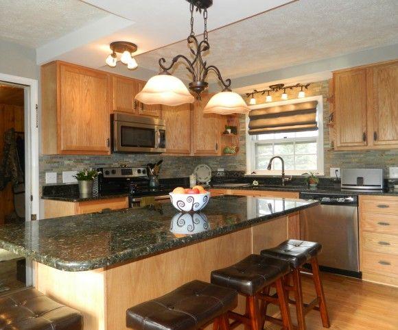 Kitchen Kompact Chadwood Oak Menard S Has This Brand Fresh Kitchen Kitchen Kitchen Cabinets