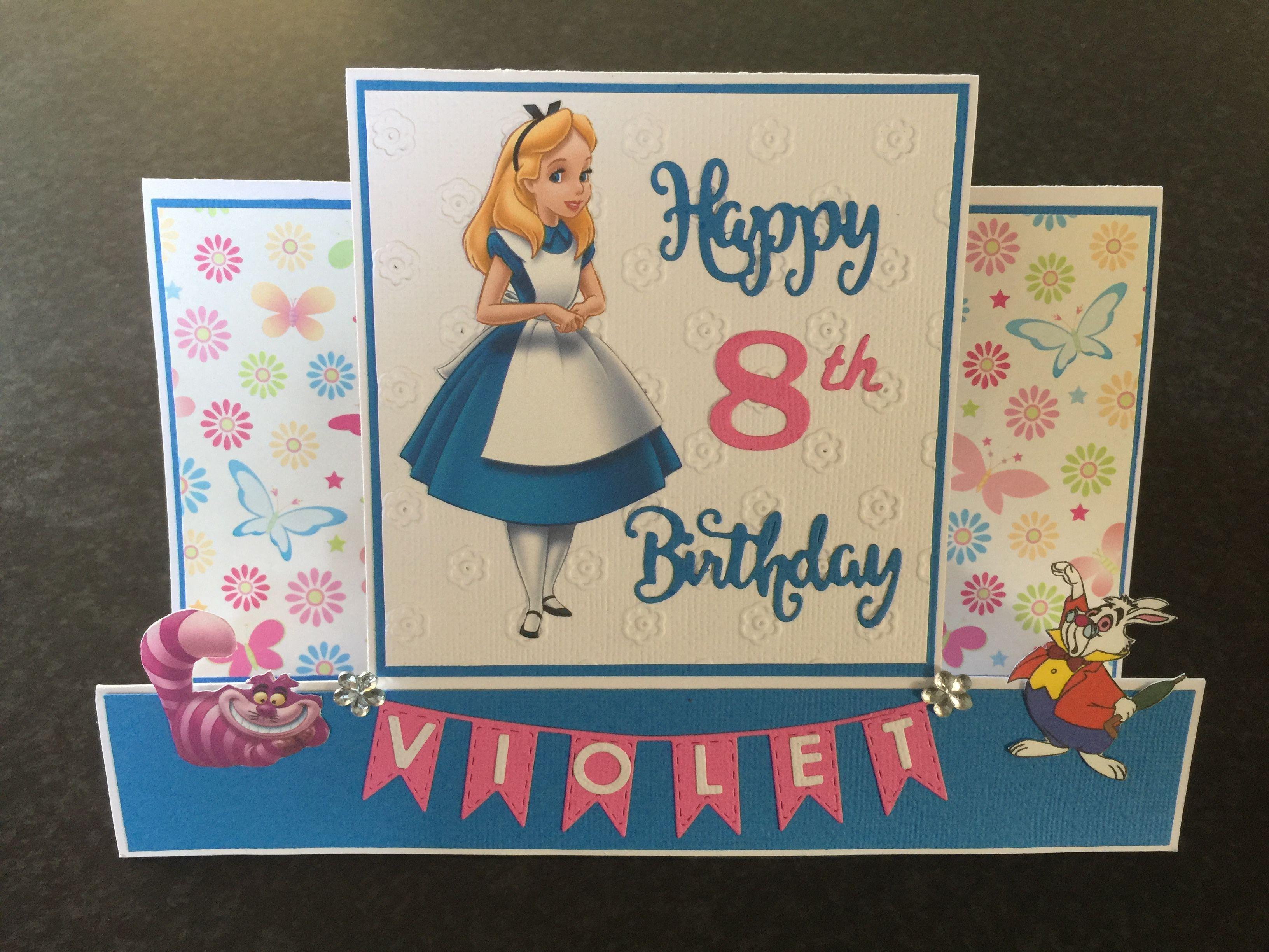 Alice In Wonderland Birthday Card In 2020 Handmade Card Making Alice In Wonderland Birthday I Card