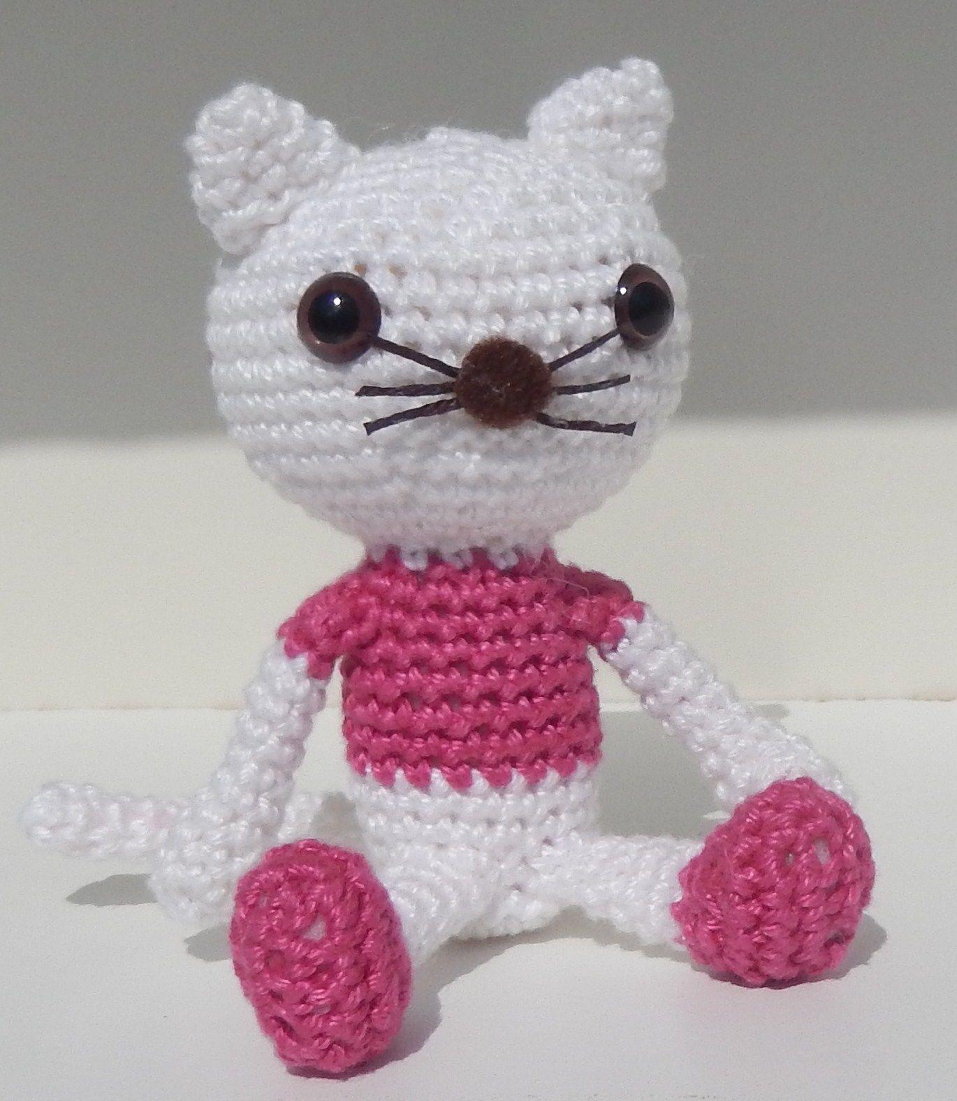 Haken Gratis Patroon Engels Amigurumi Kat Poes Crochet Free