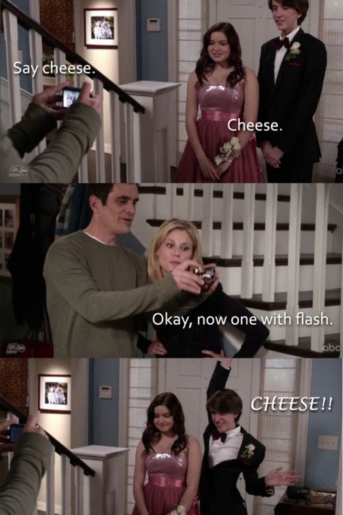Say Cheese Modern Family Funny Friday Funny Pictures Modern Family