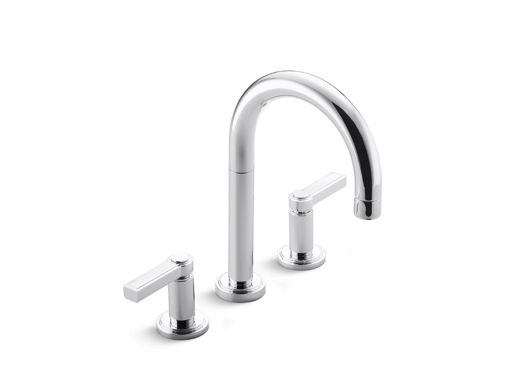Photo of Vir Style Minimal by Laura Kirar Sink Faucet, Lever Handles | P24131-LV | Faucets | Kallista