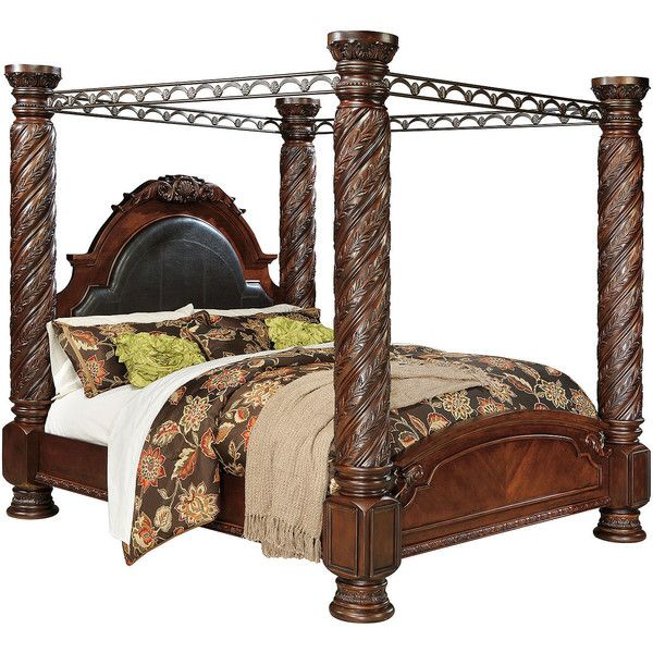 Signature Design by Ashley North Shore King Canopy Bed ($2,199