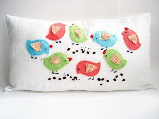 Spring chicks...so cute!!! Pillow Talk Pinterest Pillows, Embroidery and Craft