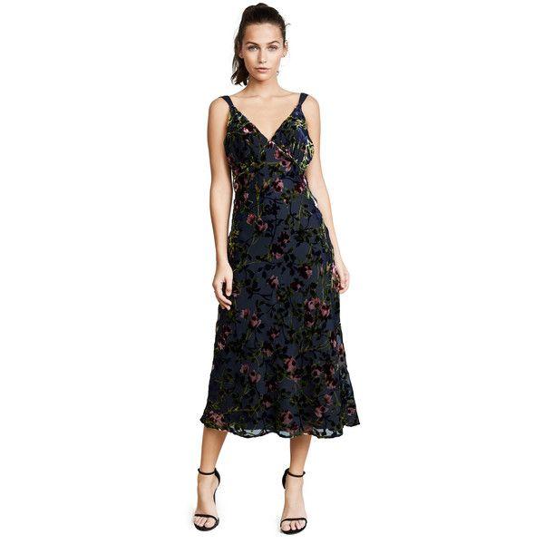 WAYF Sedona Bias Midi Dress ($150) ❤ liked on Polyvore featuring ...
