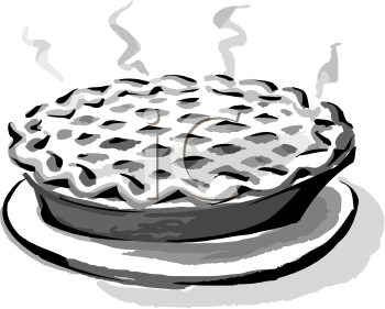 Black And White Clip Art Of A Hot Pie Sweets Clipart Clip Art Yummy Sweets