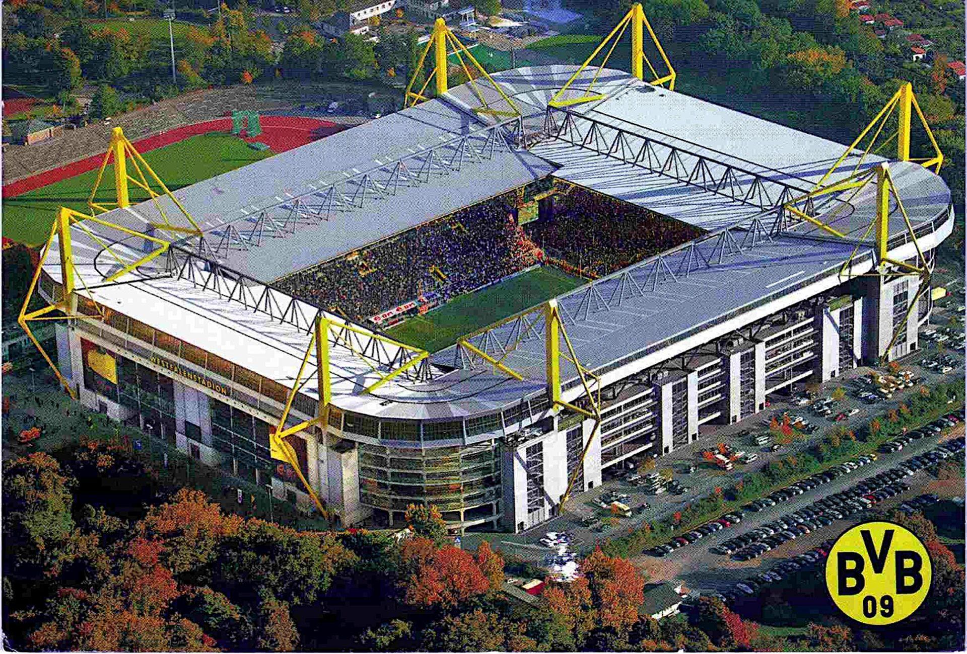 borussia dortmund westfallen stadion football ground tyskland pinterest. Black Bedroom Furniture Sets. Home Design Ideas