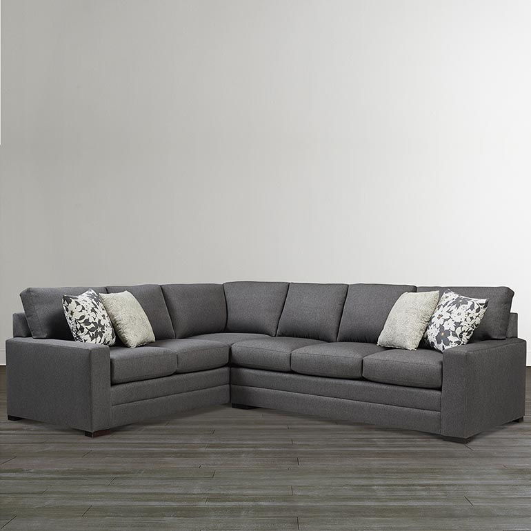 Braylen Large L Shaped Sectional Sofa Track Arm In Multiple Colors Fabric Small Sectional Sofa Bassett Furniture L Shaped Couch