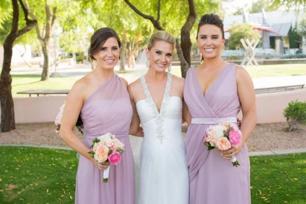 Maid And Matron Of Honor In Suede Rose