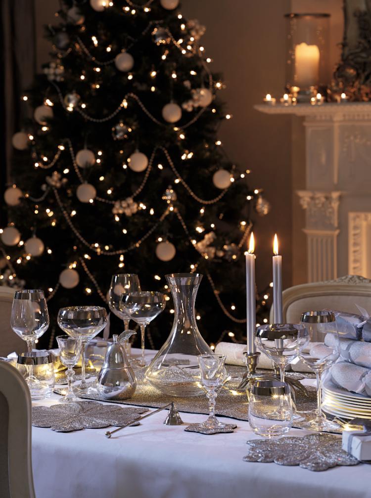 deco de Noel 2017 couleur argent deco de table luxe Noël decoration  ideas christmasdecoration
