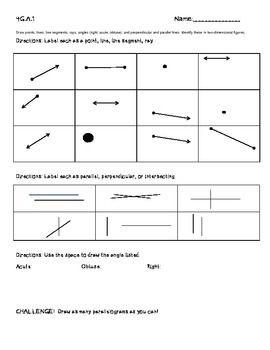 4g a 1 worksheet freebie geometry parallel perpendicular lines geometry 4th grade math. Black Bedroom Furniture Sets. Home Design Ideas