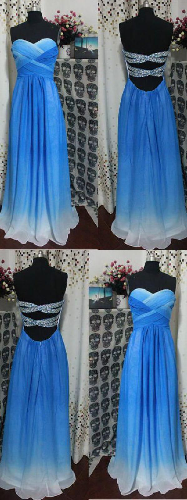 Bridesmaid dress sexy bridesmaid dress blue prom dress long ombre