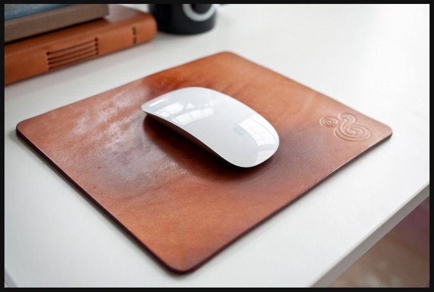Premium Leather Mousepad Ugmonk Logo Natural Leather Mouse Pad Leather Mouse Diy Mouse Pad