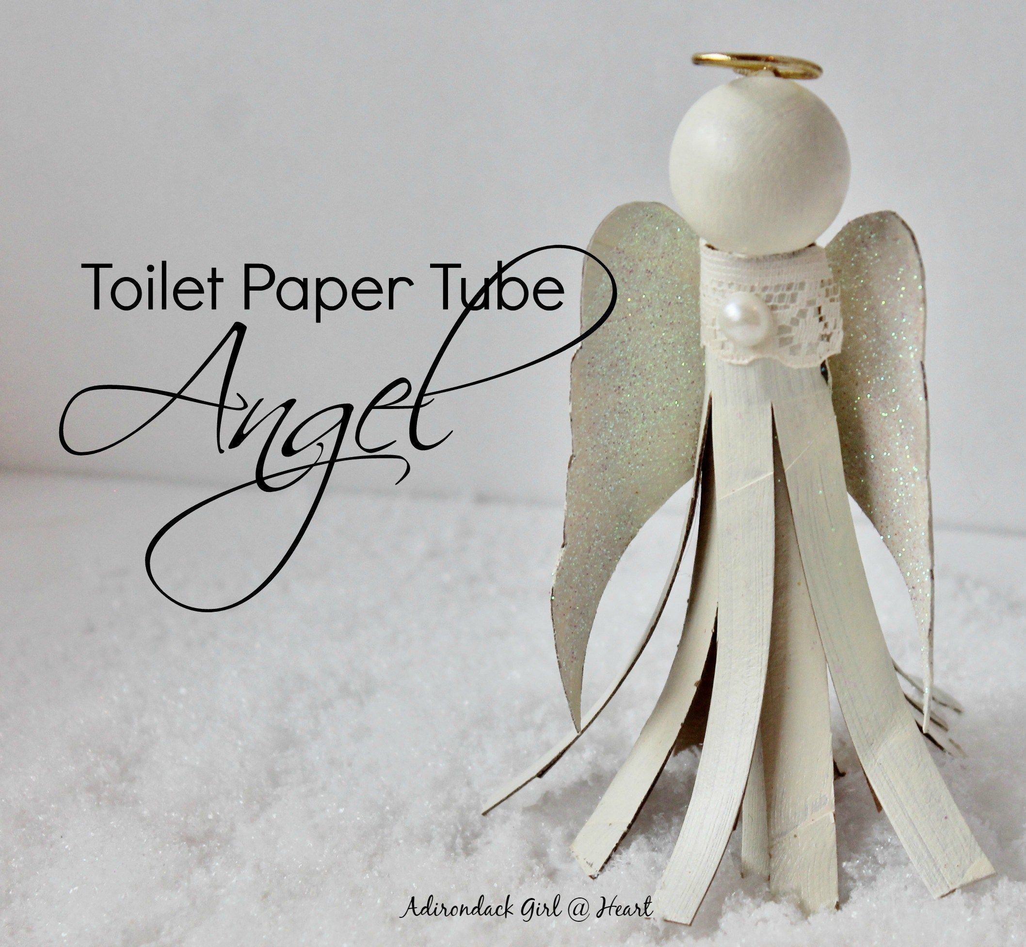 How to Make a Toilet Paper Tube Angel Ornament | Diy angels, Craft ...
