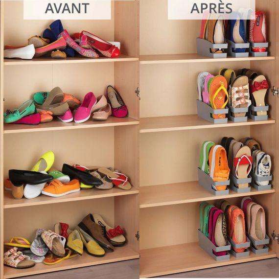 3 range chaussures gain de place en 2019 rangement. Black Bedroom Furniture Sets. Home Design Ideas