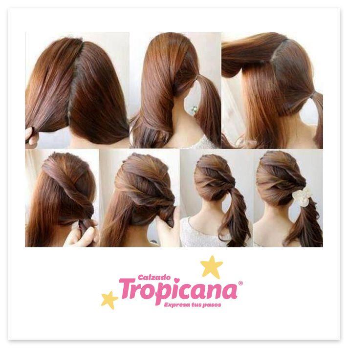 Peinado en 1, 2, 3 pasos con Tropicana