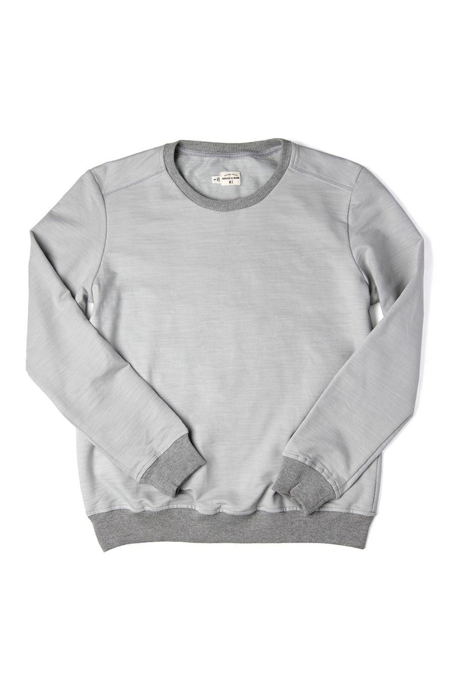 Nina Light Grey Crewneck Sweatshirt By Bridge Burn Grey Sweatshirt Women Bridge Burn Grey Crewneck [ 1350 x 900 Pixel ]