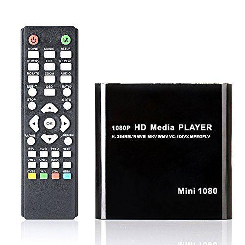 Crenova Reg 1080p Full Hd Streaming Multi Media Player Hdmi Video Ypbpr Usb Av Sdhc Mkv Rm Rmvb Avi Mini 1080p Media Player Black Mini Hdmi Hard Disk