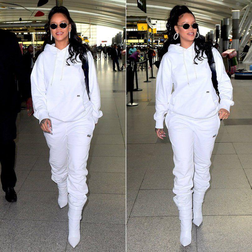 ea60a96d4f99 Rihanna Palace Skateboards white hoodie and sweatpants