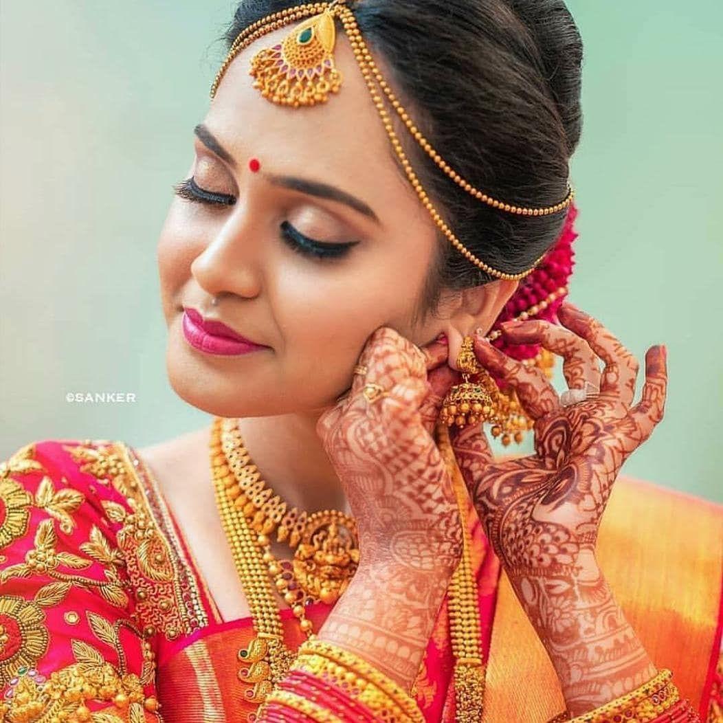 bride makeup coimbatore saree love marrige cute design