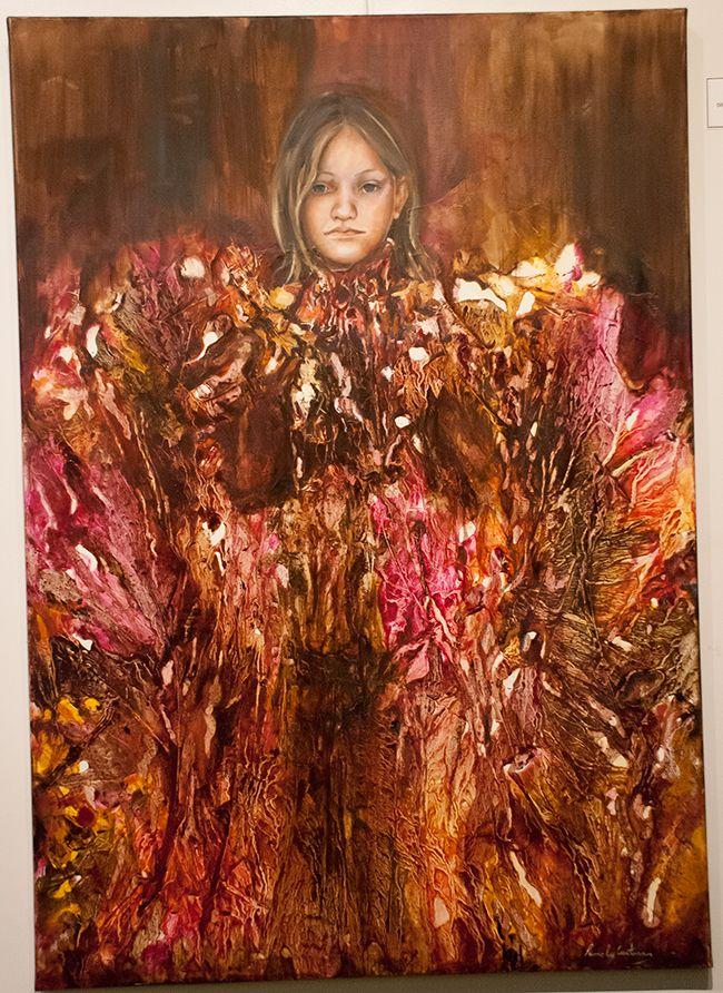Vestido Rojo - $ 6600.- Dilución al óleo 70 x 100 cm PAMELA CARTURAN