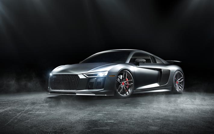 Descargar Fondos De Pantalla 4k Audi R8 Costa De 2017: Descargar Fondos De Pantalla Audi R8, 4k De 2017, Los