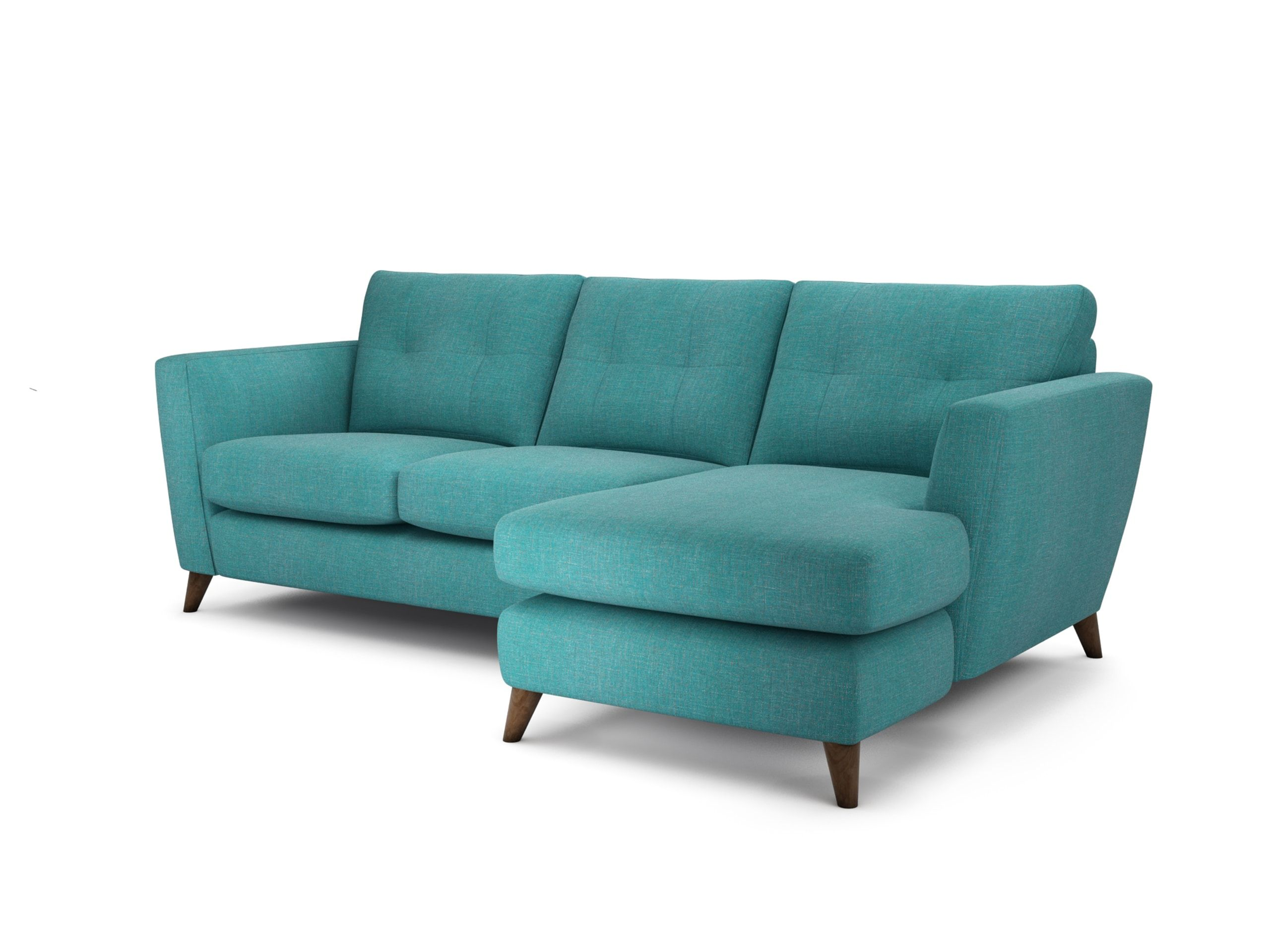 Holly Chaise End Sofa In Tweedy Weave Dragon Back Theloungeco Chair Trend Turquoise Teal Velvet Statement Interiorinspiration Lounge