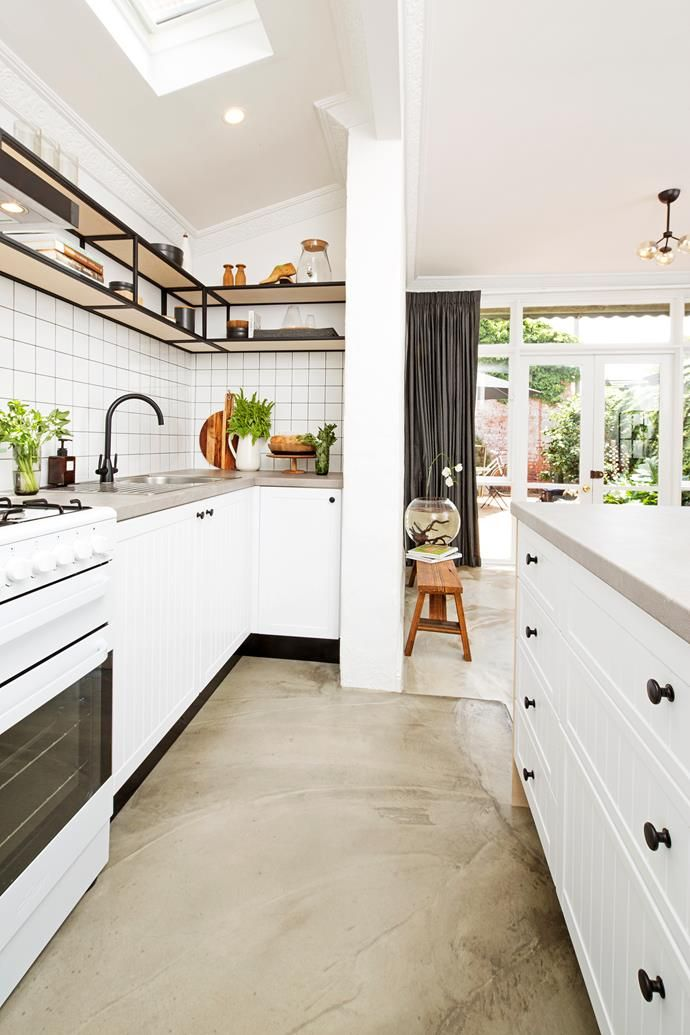 Diy Kitchen Remodel On A Budget Budget Kitchen Remodel Concrete Kitchen Floor Diy Kitchen Remodel