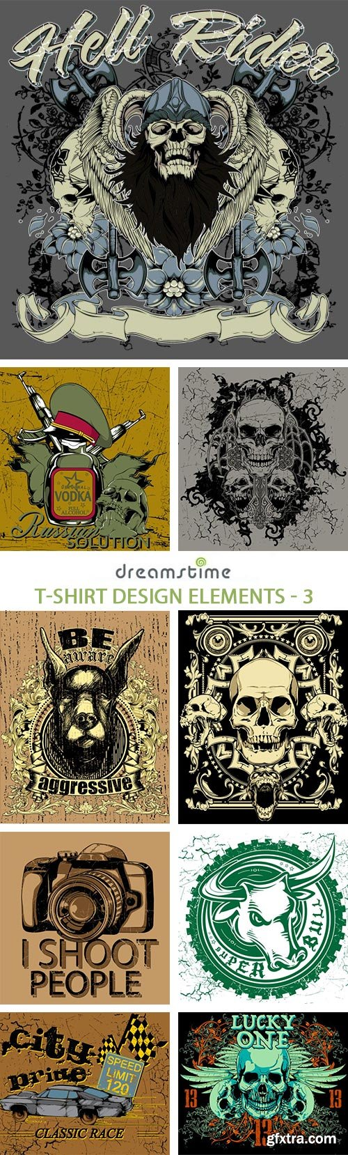 Shirt design elements - T Shirt Design Elements 3 25xeps