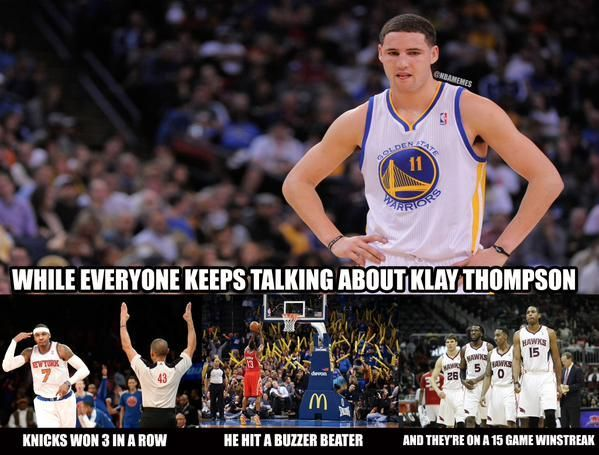 Funny Meme Nba : What a day for the nba warriors i knicks i rockets i hawks