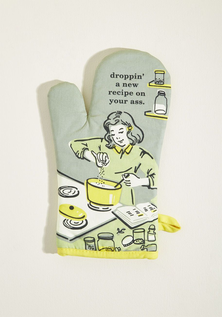 It S The Hot That Counts Cotton Oven Mitt In Sage Blue Q Oven