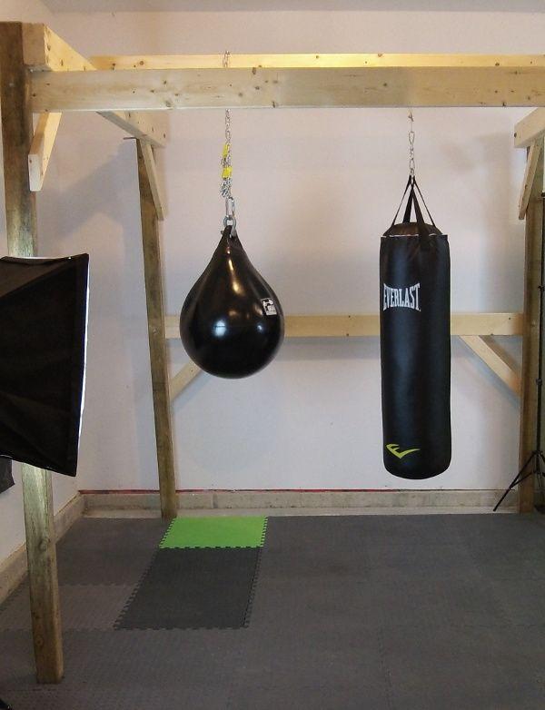 diy punching bag stand