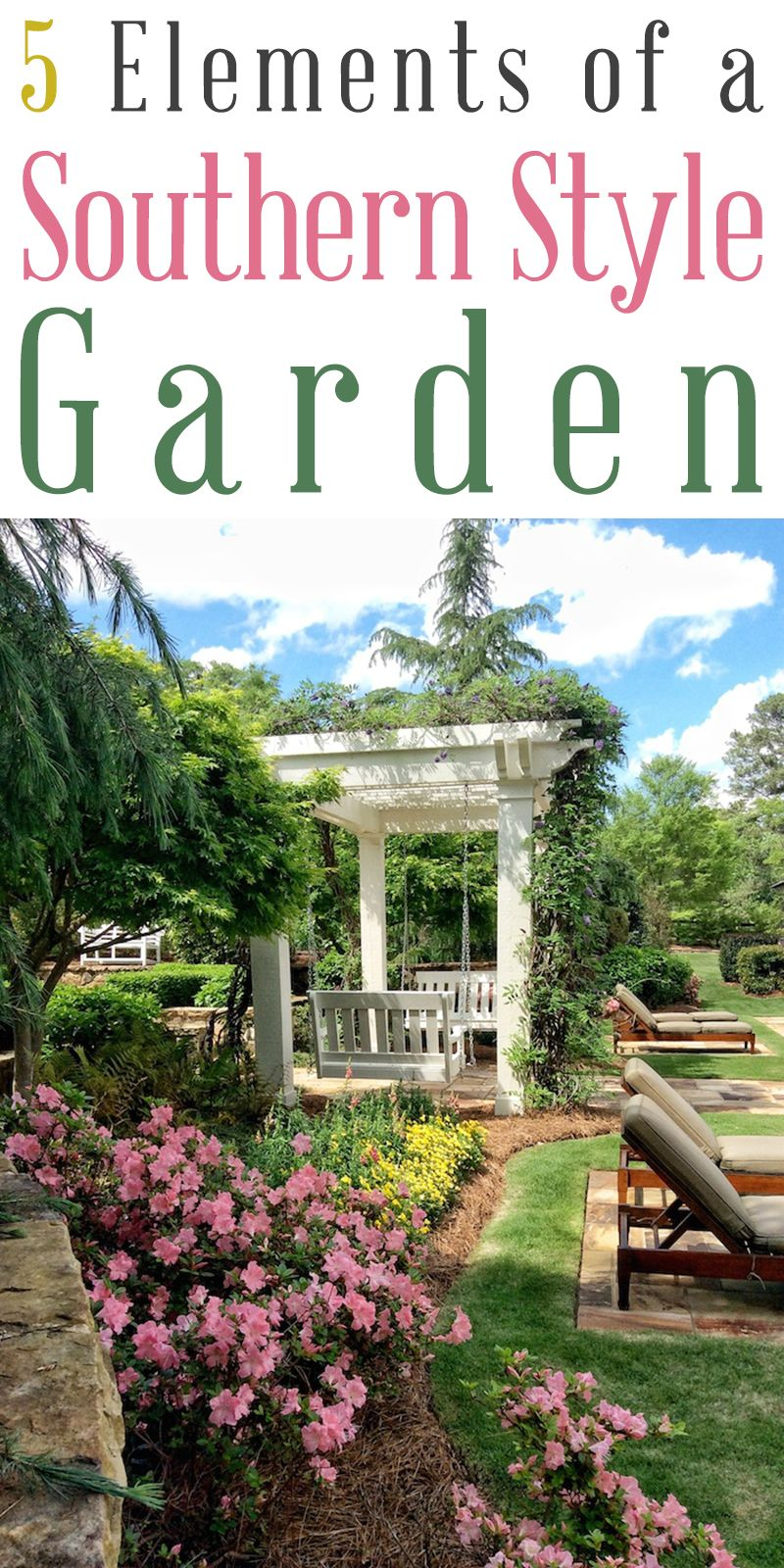 5 Elements of a Southern Style Garden | Perennial garden ...