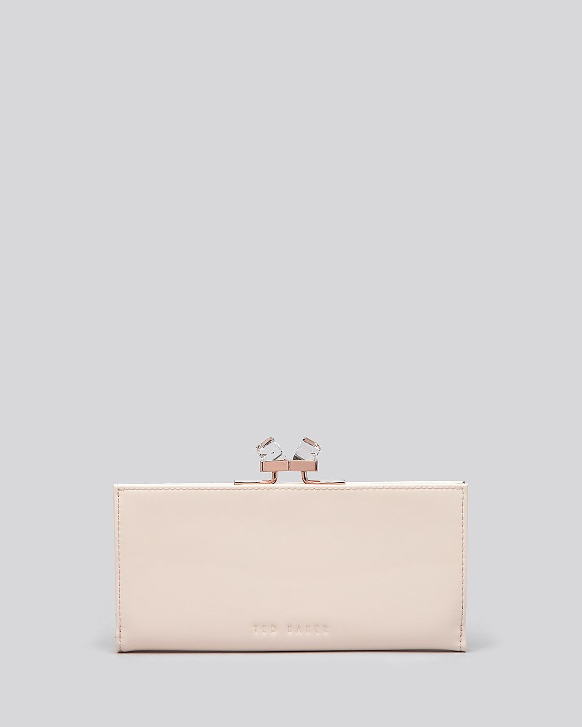 dc6684a4b9b9 Ted Baker Wallet - Patent Crystal Frame Matinee Continental ...