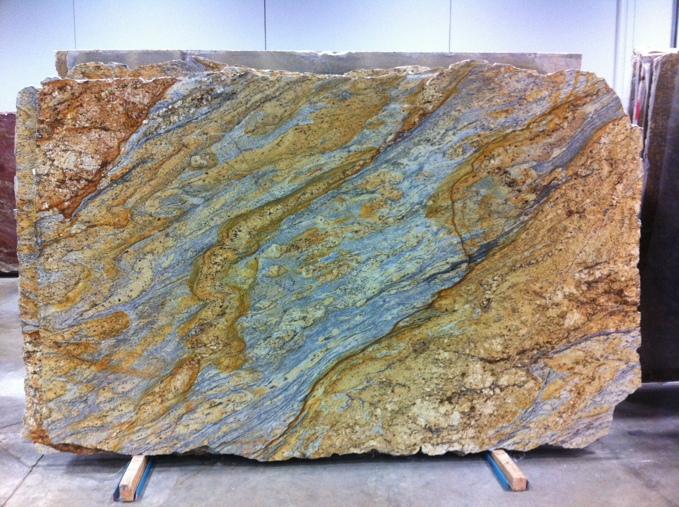 River Stone Slabs : Yellow river granite the slabs we picked new house