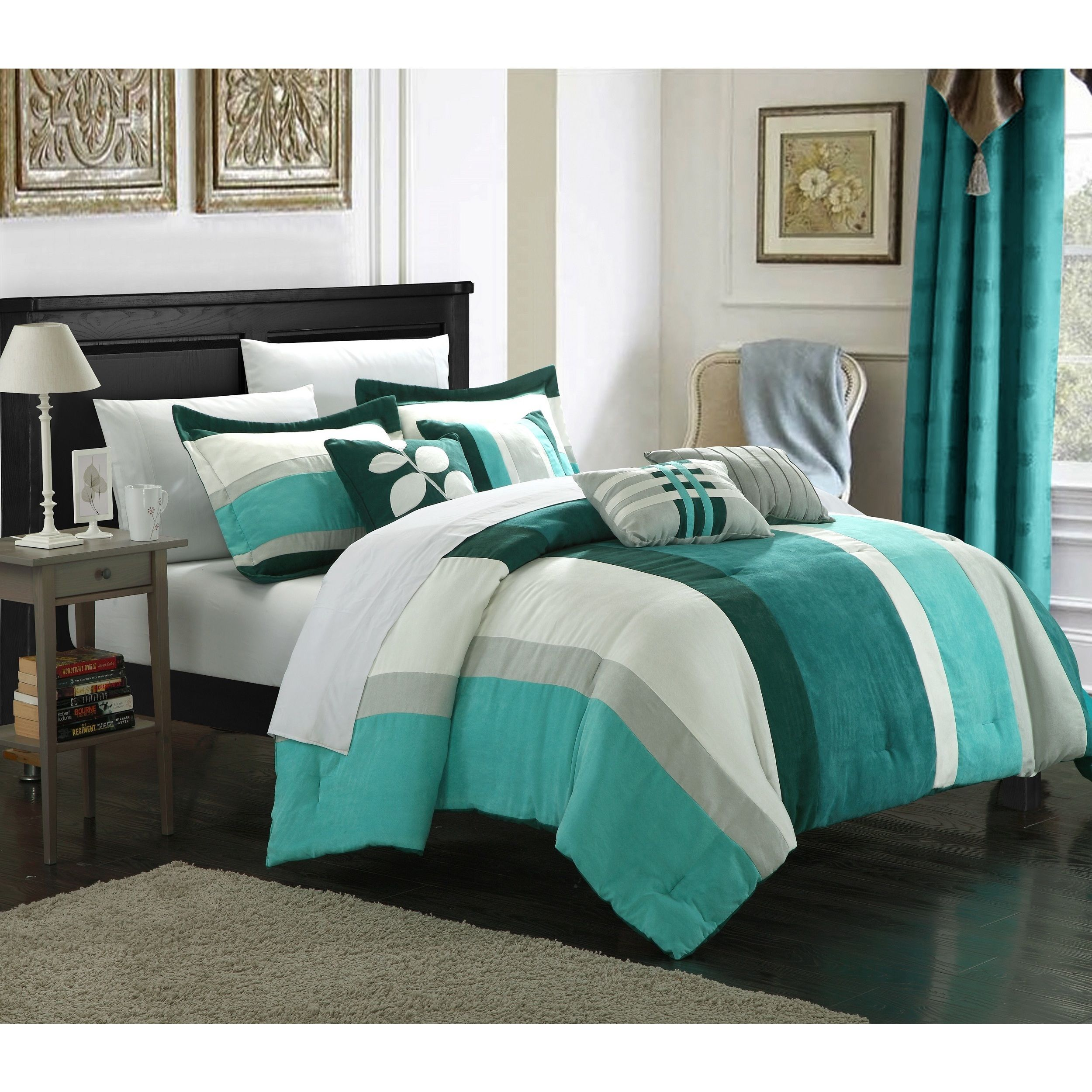 queen sets photo sensational striped comforter and inspirations bedding black white